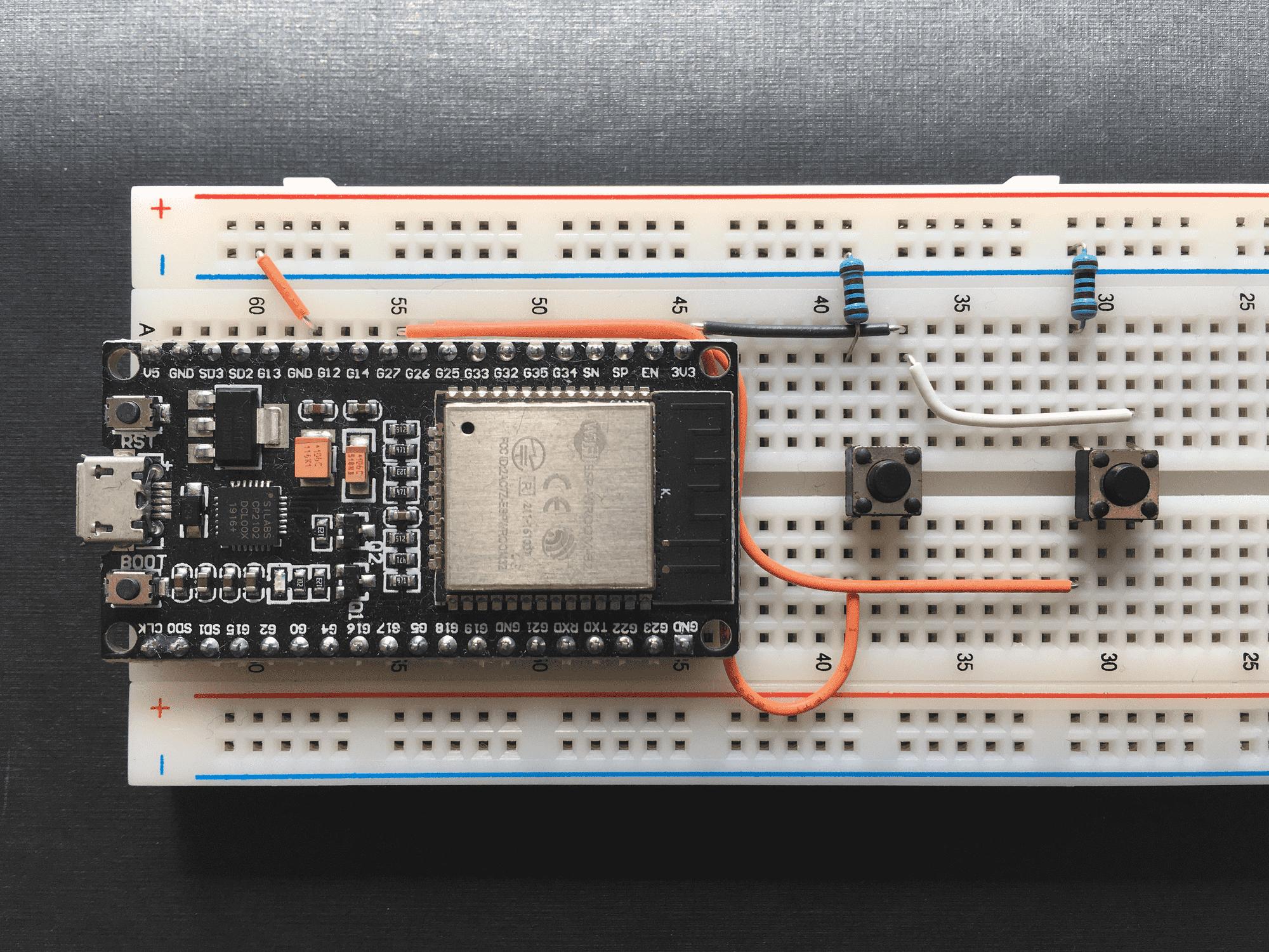 Prototipo final con los dos botones