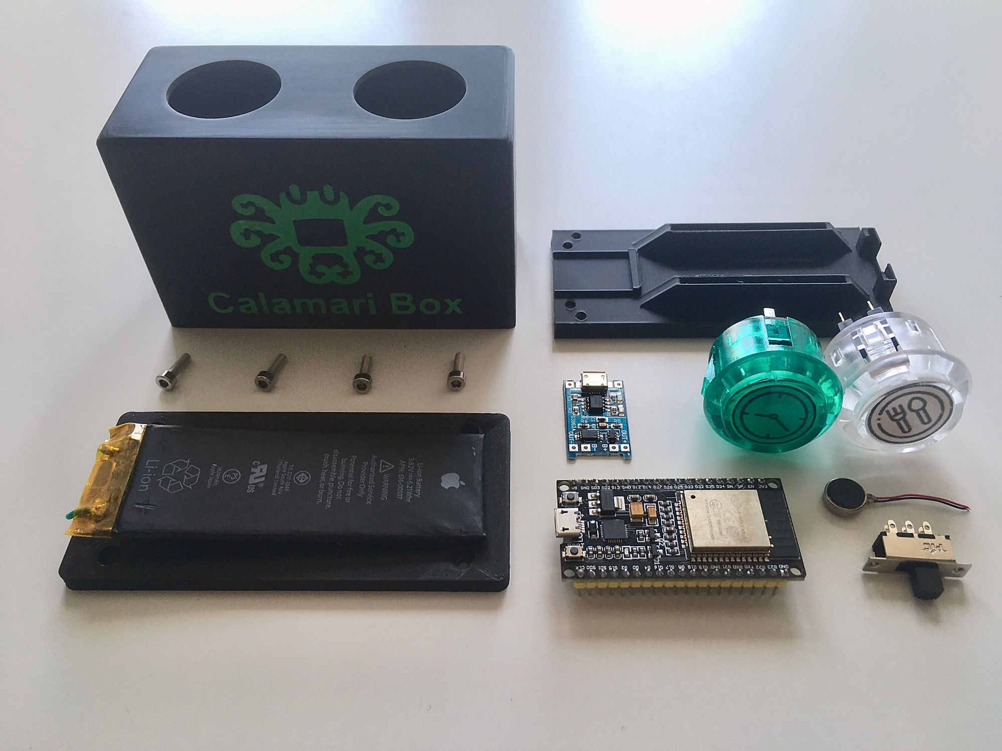 All the components ready to be assembled