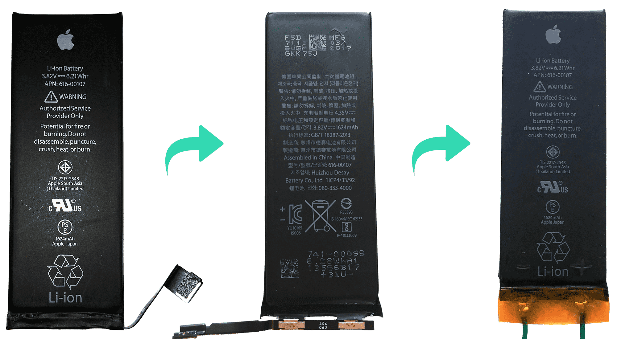 Reusing and old iPhone battery