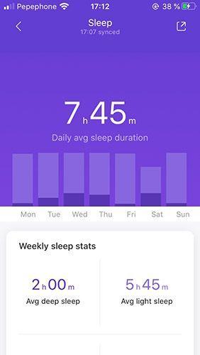 Mi tiempo promedio de sueño en una semana
