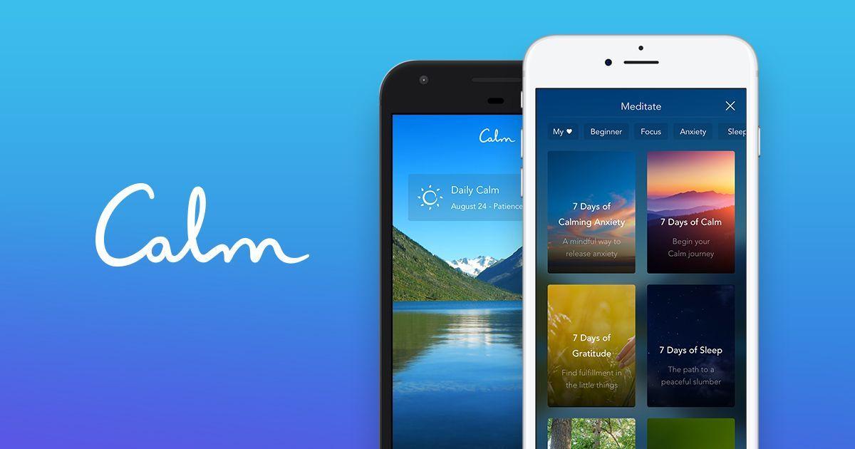 Aplicación Calm: sueño, meditación y relajación